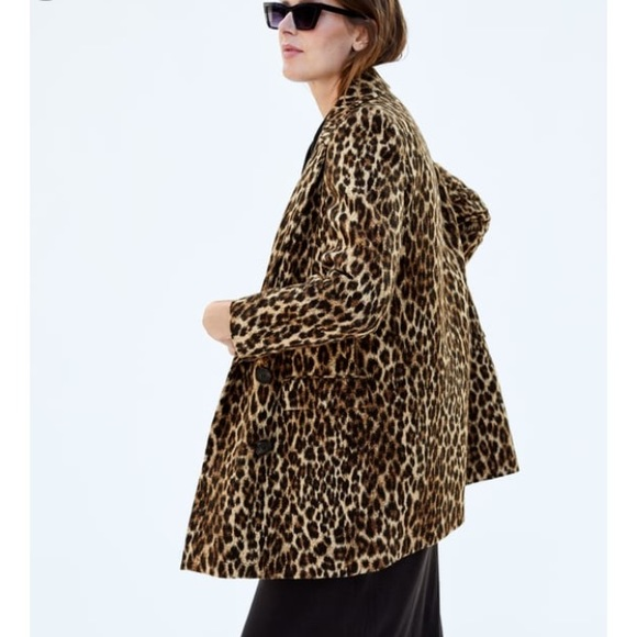 6b5ca5be6f93 Zara Jackets & Coats   Leopard Print Jacquard Coat   Poshmark